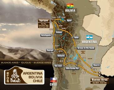 Dakar Rally Argentina - Bolivia - Chile